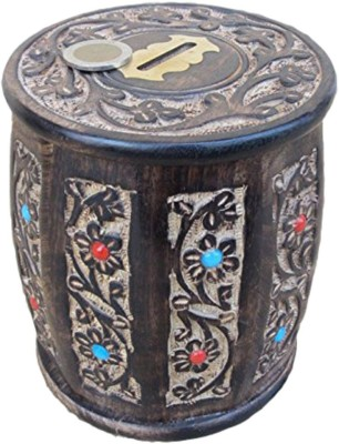 Asma Collection Woodkartindia Wooden Piggy Bank Coin Bank