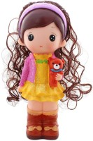 Tootpado Cute Doll With Bear 1j201 Toy Coin Piggy Kiddy Money For Kids Coin Bank(Yellow) best price on Flipkart @ Rs. 499