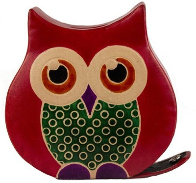 Rare Planet Sweet Owl Coin Bank(Red, Yellow)