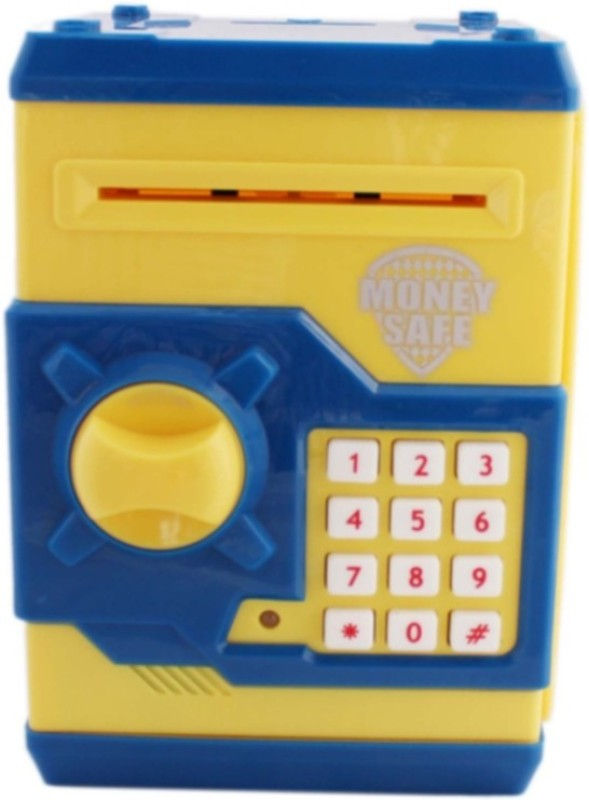 Tara Lifestyle Money Safe ATM Machine-Yellow Coin Bank