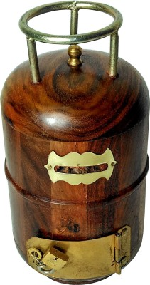 Kuch Khas Cylinder Shape Coin Bank(Brown)