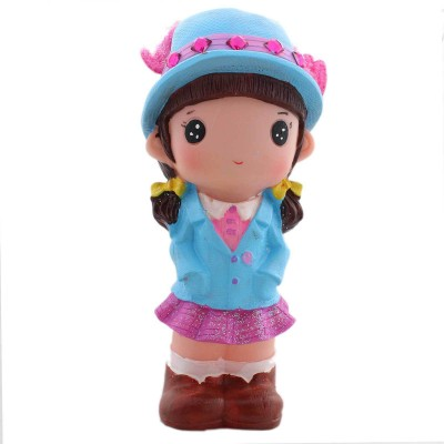 Tootpado Cute Doll Girl With Hat 1j221 Toy Piggy Kiddy Coin Bank