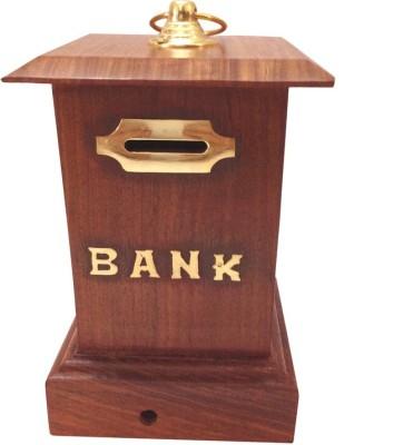 Craft Art India Handcrafted Wooden Money Box / Gulak Coin Bank