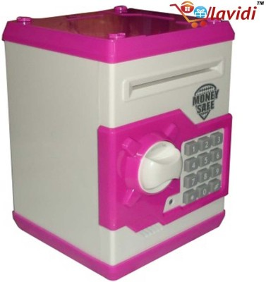 LAVIDI Money Safe with ATM Password Lock (Piggy Bank) Coin Bank