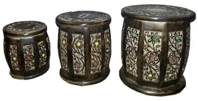 Mayur enterprises Wooden Dholak - Set of 3 Coin Bank