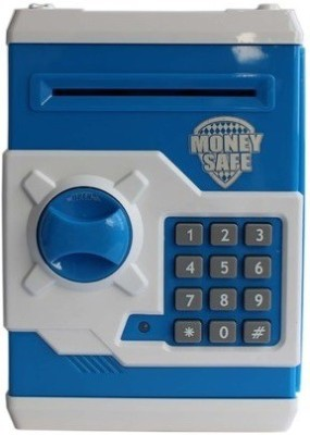 CraftWorld Savings Money Safe Coin Bank(Blue)