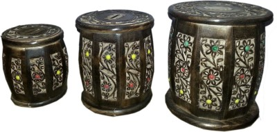 limra handicrafts wooden dholaak set Coin Bank