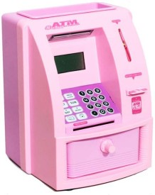Krypton ATM Machine For Kids With Secret Code Electronic Lock With Display ATM001 Coin Bank