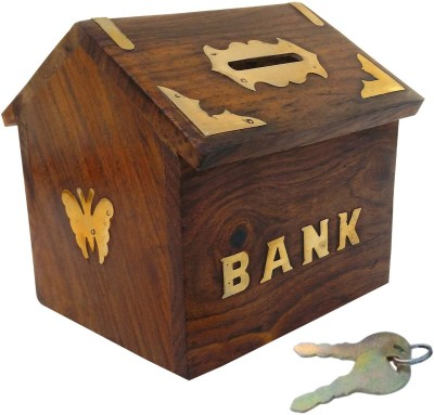 Mayur enterprises Wooden Money Bank Coin Bank