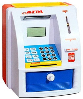 RVOLD Atm Machine For Kids Open With Secret Code Electronic Lock With Display Coin Bank Coin Bank