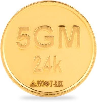 Araanz by Tribhovandas Bhimji Zaveri Delhi 24 (995) K 5 g Gold Coin