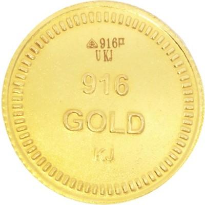 Kalyan Jewellers Lakshmi 22 K 1.99 g Gold Coin