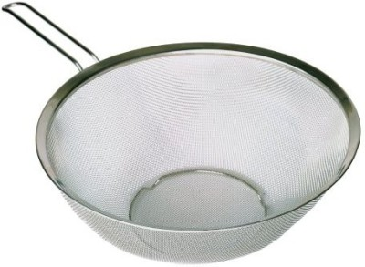 MDC Housewares Inc. P!Zazz 4010021 Strainer With Stainless Steel Flat Bottom Loop Handle