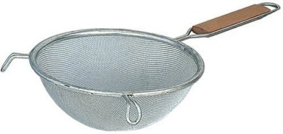 Browne Foodservice 8198 Medium Double Mesh Strainer With Wood Handle
