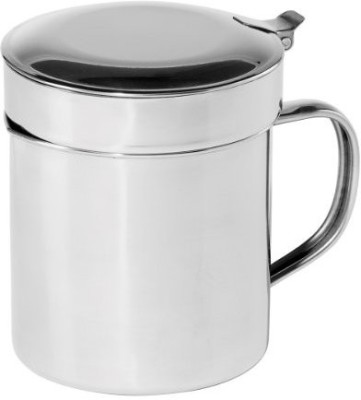 Oggi 7324 Stainless Steel Grease Can With Removable Strainer