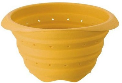 GoodLivingForever Collapsible Colander(Yellow Pack of 1)