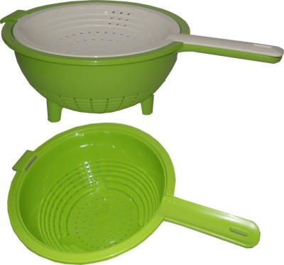 Tupperware Sieve(Green, White Pack of 2)