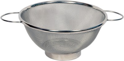 Rituraj Colander basket with handle Stainless steel Colander(Silver Pack of 1)