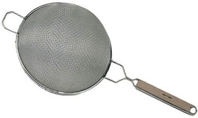 Update International Sdf6Ss Stainless Steel Fine Double Mesh Wooden Handle Strainer