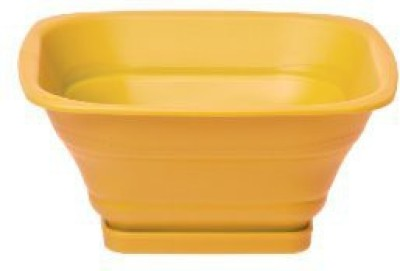 Progressive Collapsible Square Collapsible Colander(Yellow Pack of 1)