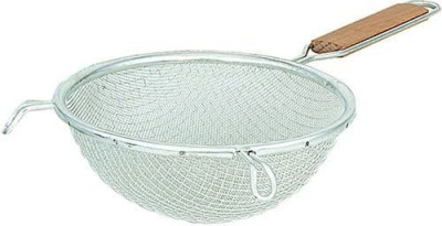 Browne Foodservice 9194 Medium Single Mesh Strainer With Wood Handle