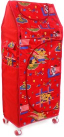 Flipzon 4 Shelve Red PVC Collapsible Wardrobe(Finish Color - Red)