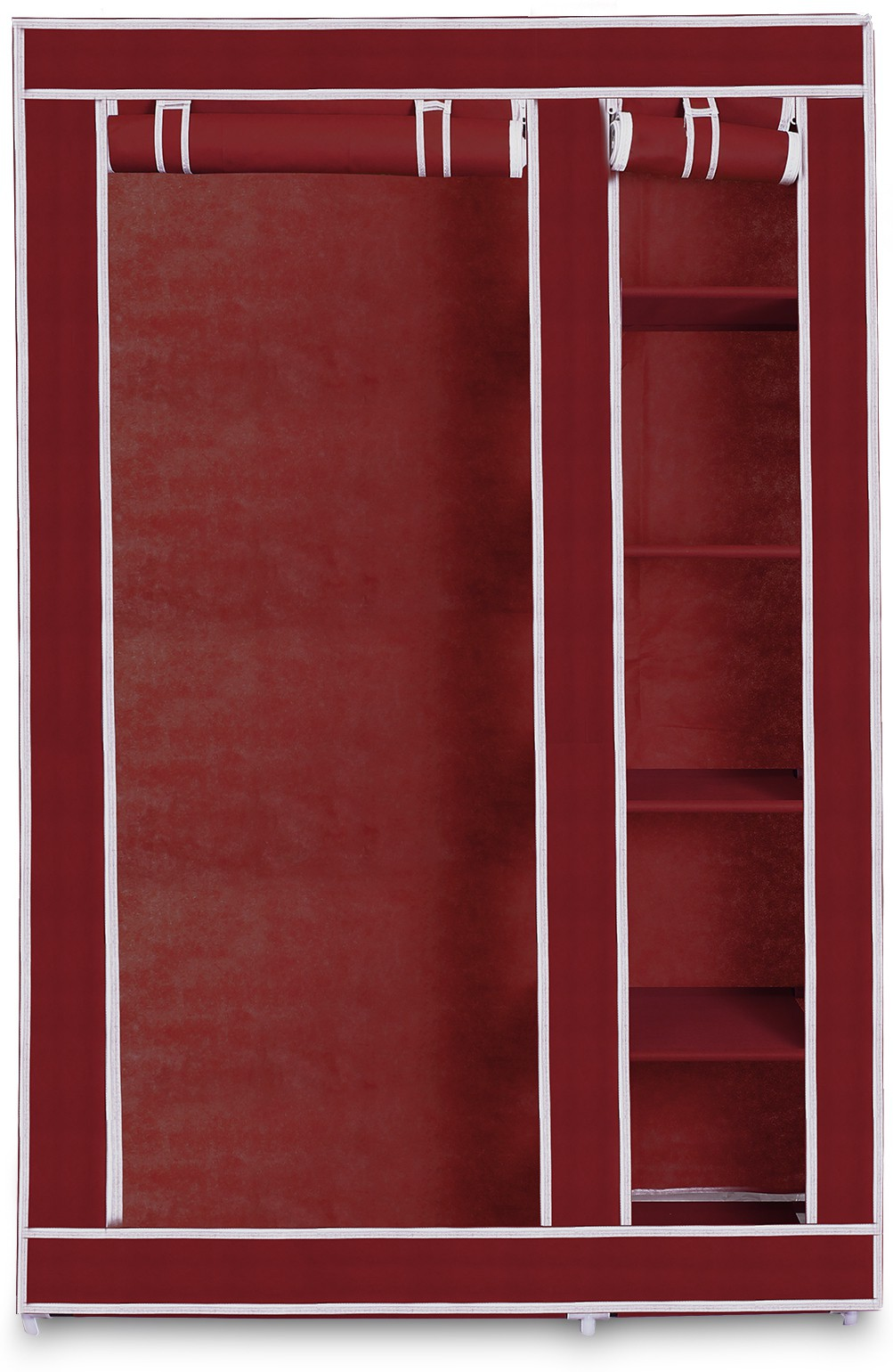 View Birdy Cotton Collapsible Wardrobe(Finish Color - Maroon) Furniture (Birdy)