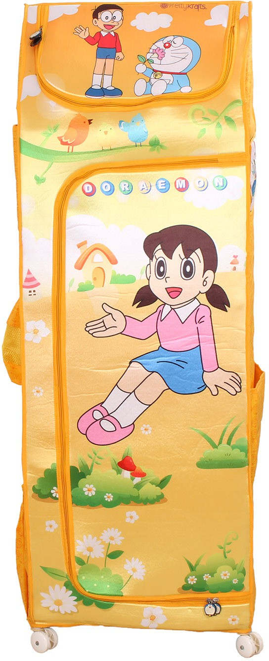 View Doraemon Polyester Collapsible Wardrobe(Finish Color - yellow) Furniture (Doraemon)