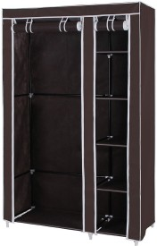 MSE Stainless Steel Collapsible Wardrobe(Finish Color - Brown)