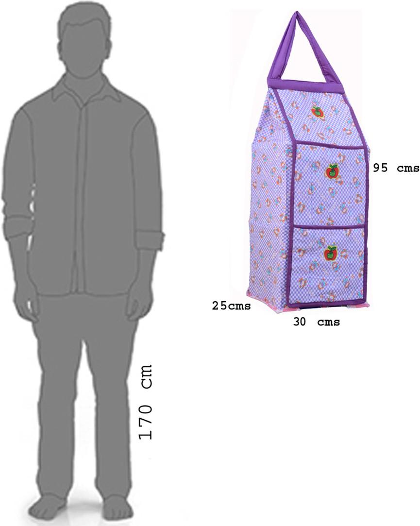 View SRIM Cotton Collapsible Wardrobe(Finish Color - Purple) Furniture (SRIM)