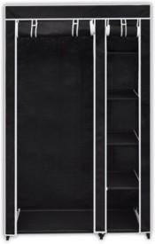 Novatic Carbon Steel Collapsible Wardrobe(Finish Color - Black)