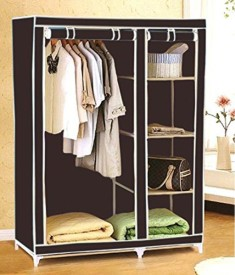 Everything Imported Carbon Steel Collapsible Wardrobe(Finish Color - Brown)