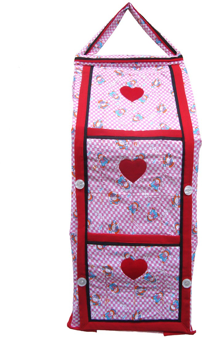View SRIM Cotton Collapsible Wardrobe(Finish Color - Pink) Furniture (SRIM)