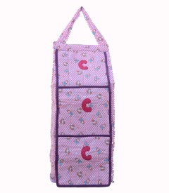 SRIM Cotton Collapsible Wardrobe(Finish Color - Pink)