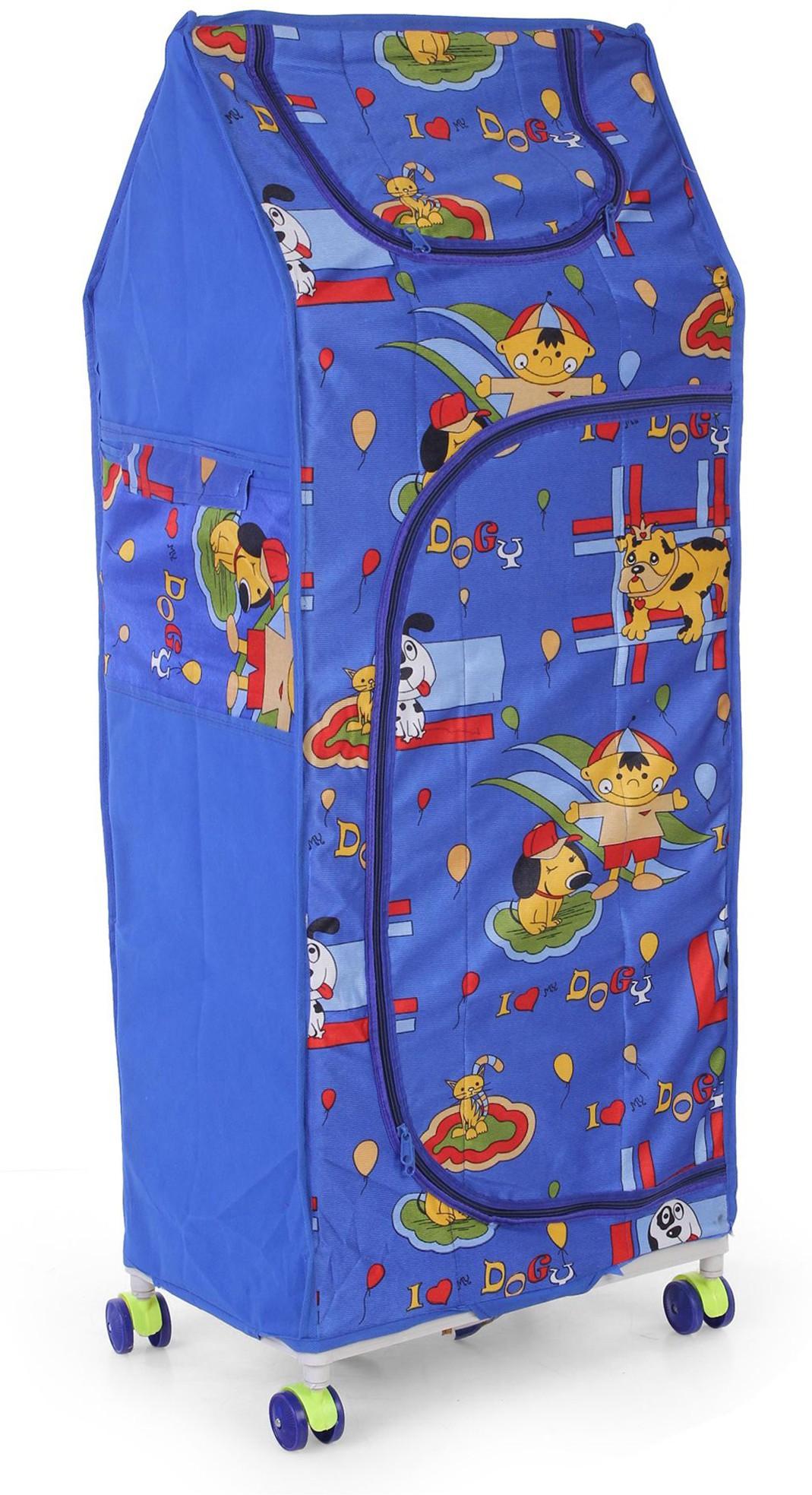 View Flipzon 4 Shelve Blue PVC Collapsible Wardrobe(Finish Color - Blue) Furniture (Flipzon)