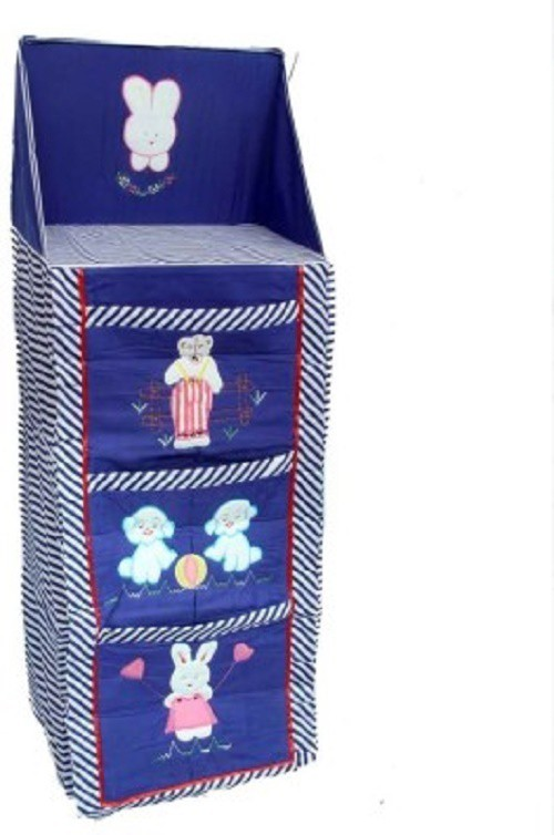 View Anmol Cotton Collapsible Wardrobe(Finish Color - blue) Furniture (Anmol)