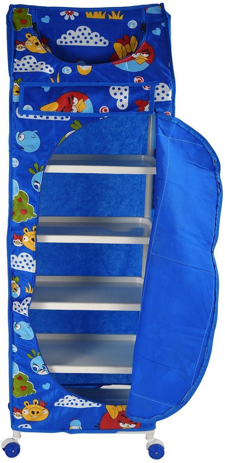View Flipzon 6 Shelve Blue PVC Collapsible Wardrobe(Finish Color - Blue) Furniture (Flipzon)