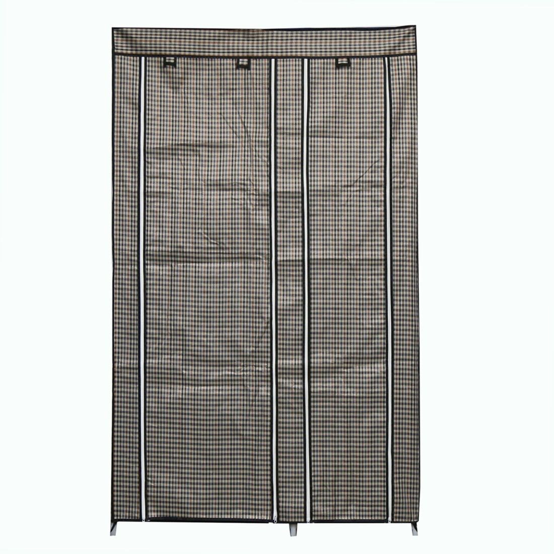 View Online World Carbon Steel Collapsible Wardrobe(Finish Color - Grey and Black) Furniture (Online World)