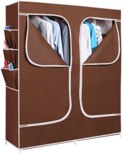 View EI Carbon Steel Collapsible Wardrobe(Finish Color - Brown) Furniture (EI)