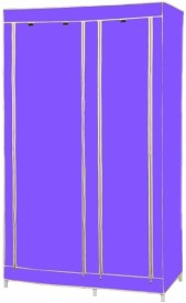 MSE Jute Collapsible Wardrobe(Finish Color - Purple)