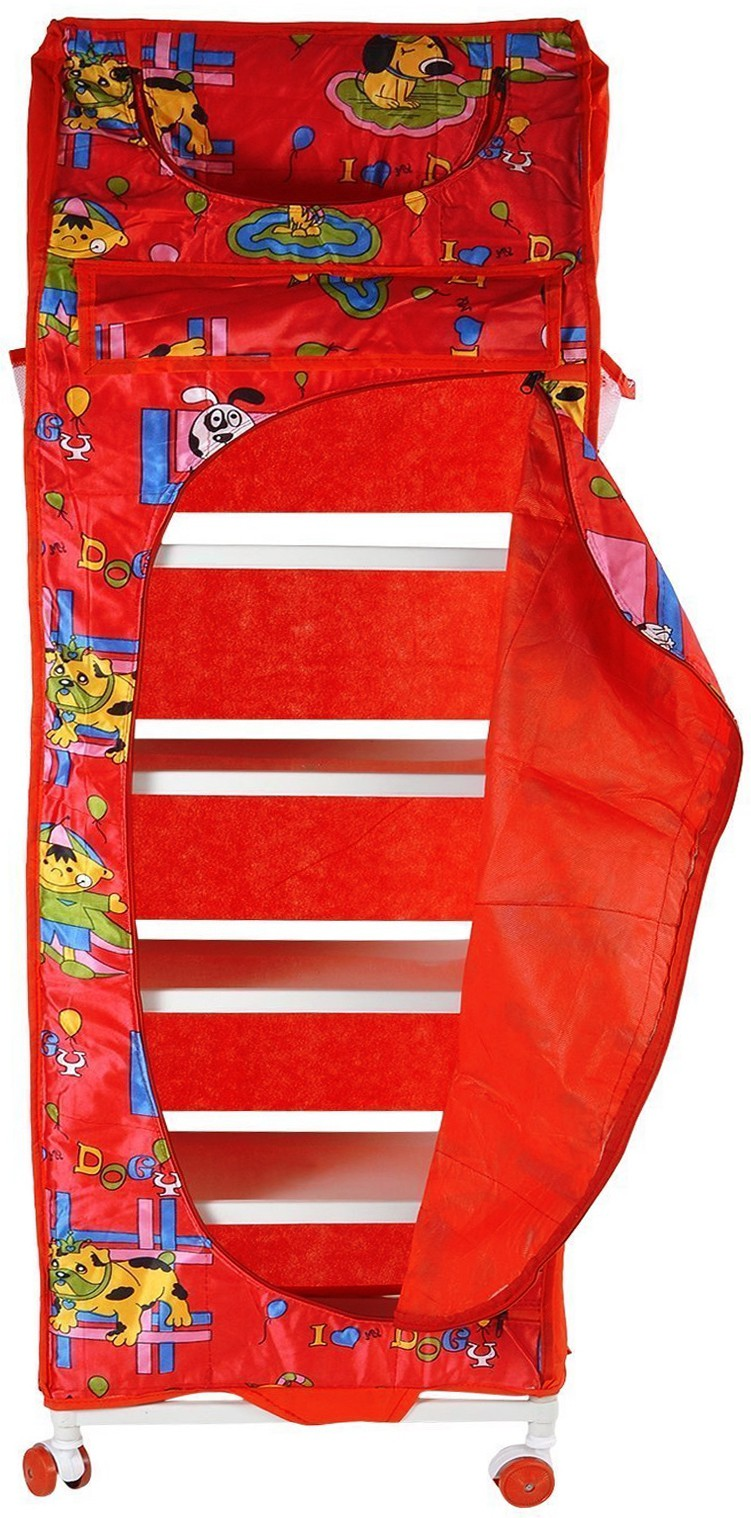 View Flipzon 6 Shelve Red PVC Collapsible Wardrobe(Finish Color - Red) Furniture (Flipzon)
