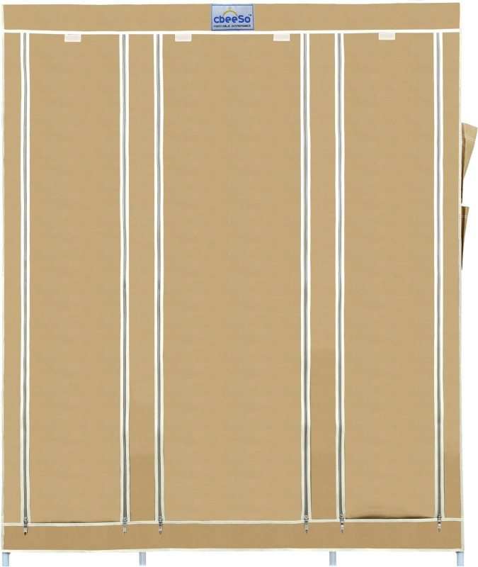 CbeeSo 10 Racks Stainless Steel Collapsible Wardrobe(Finish Color - Dark...