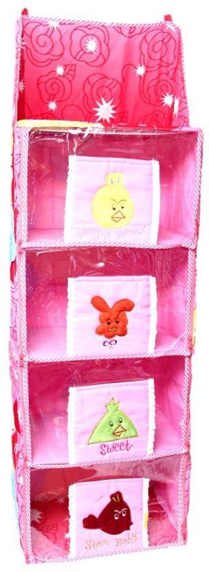 View Jai Ambe Plywood Collapsible Wardrobe(Finish Color - Pink) Furniture (Jai Ambe)