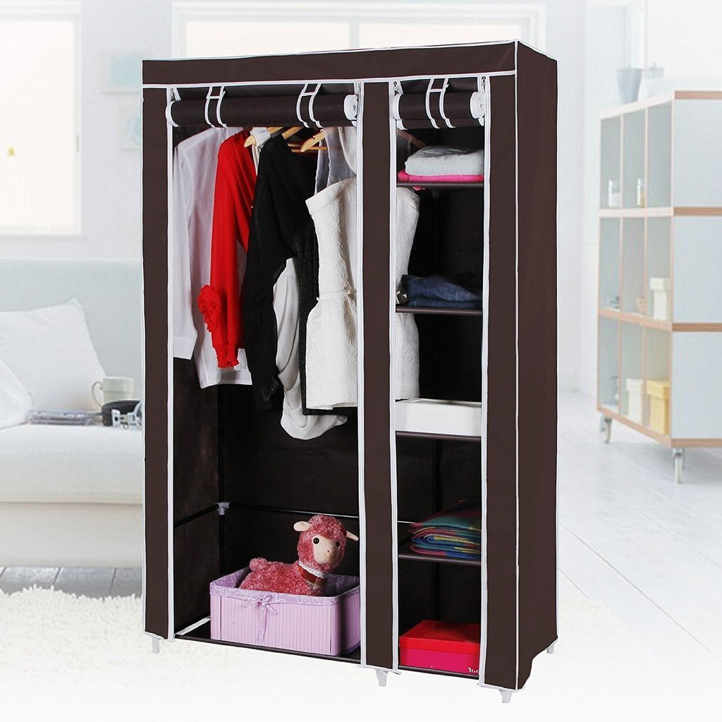 View ShopyBucket Stainless Steel Collapsible Wardrobe(Finish Color - Multicolor) Furniture (ShopyBucket)