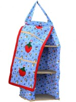 SRIM SMC0009 Cotton Collapsible Wardrobe(Finish Color - Blue)