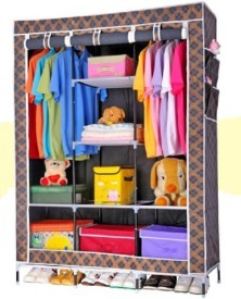 WDS Carbon Steel Collapsible Wardrobe(Finish Color - Black)