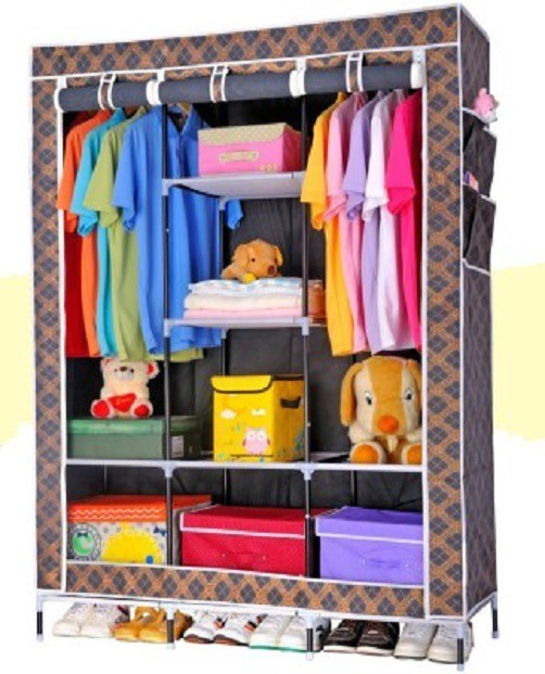 View WDS Carbon Steel Collapsible Wardrobe(Finish Color - Black) Furniture (WDS)