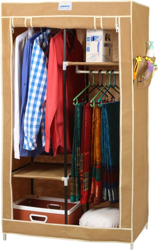 CbeeSo Stainless Steel Collapsible Wardrobe(Finish Color - Dark Beige)