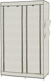 MSE Leatherette Collapsible Wardrobe(Finish Color - cream)