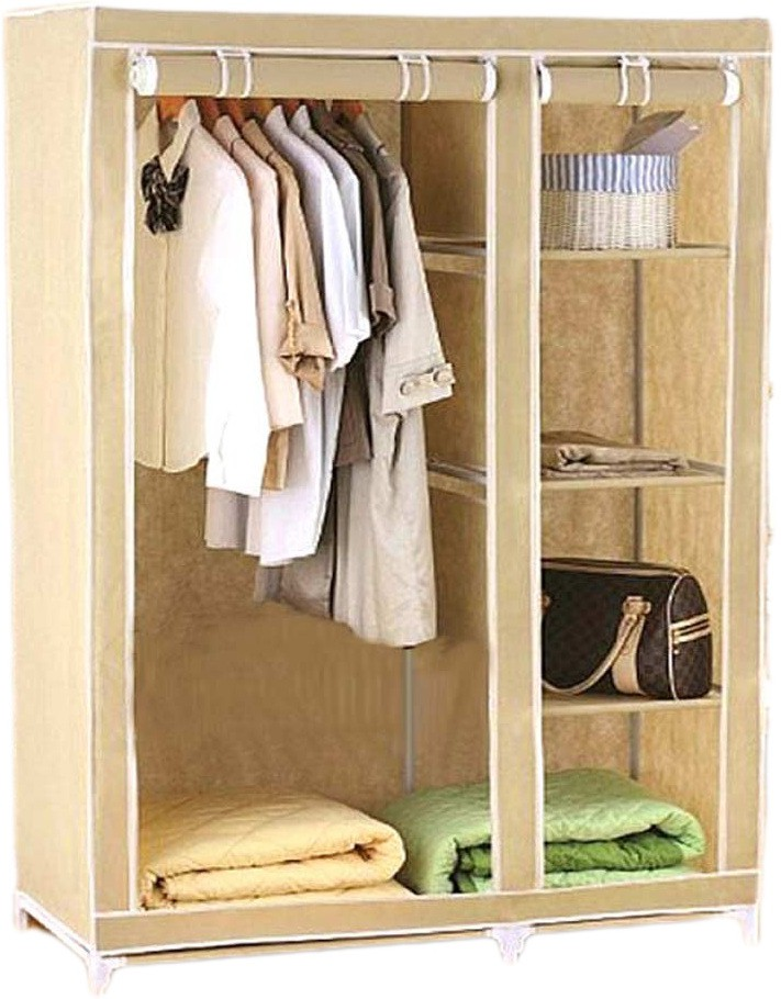 View Anything&Everything 3.5 Feet Foldable Storage Cabinet Almirah Carbon Steel Collapsible Wardrobe(Finish Color - CREAM) Furniture (Anything&Everything)